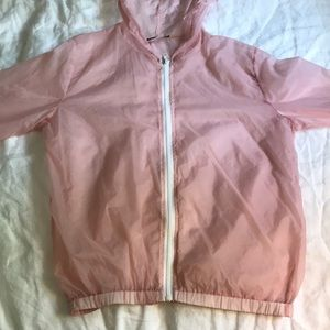 Brandy Melville Light Weight Sheer Pink Zip Up